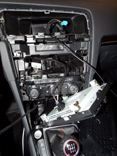 I removed the center dash to route the charging wire...