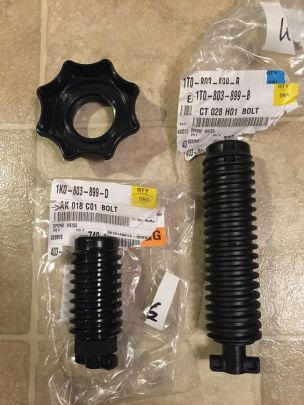"Here is the longer ""bolt"" for use with a spare tire AND sub..."