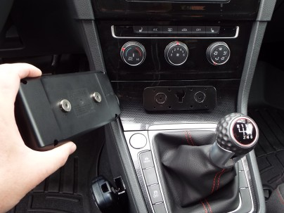 Here's how the display mounts to the center console.