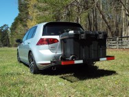 I also mount a cargo carrier when desired...