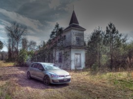 An abandoned church.