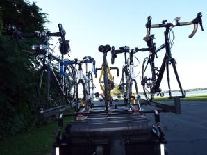 Five bikes across!