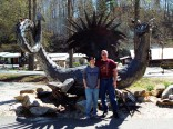 Daughter and I with the Dragon.