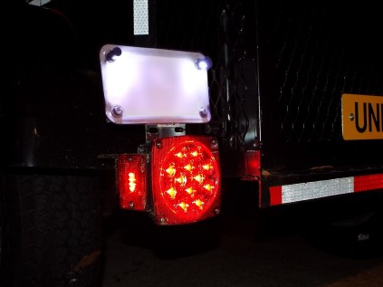 My swap to LED lighting and an inverted license plate holder...