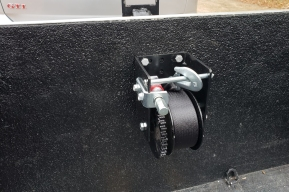 2000-lb winch with 25-ft nylon strap...