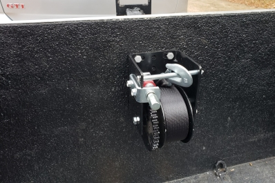 I originally mounted the winch inside the trailer, thinking I should protect it from the elements....