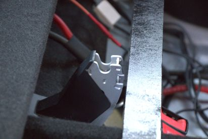 Be sure to set the 2x2 forward enough to avoid interference with this center seat hinge...