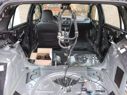 Not mine, this is a Golf R, but perhaps it will help others in their wiring efforts....
