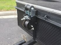 Dutton-Lainson 2000-lb hand winch with 20-ft nylon strap was great for loading heavy roller cabinets...